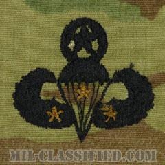 戦闘空挺章 (マスター) 降下3回(Combat Parachutist Badge, Master, Three Jump)[OCP/パッチ]の画像