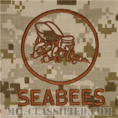 Naval Construction Battalion (Seabee)[NWU Type2(AOR1)/パッチ(ポケット)]の画像