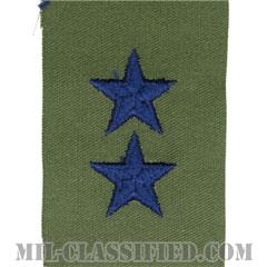 少将(Major General (MG))[サブデュード/空軍階級章(肩用)/パッチ/ペア(2枚1組)]の画像