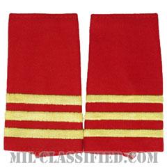 仮想敵部隊(対抗部隊)階級章(Opposing Force (OPFOR), Junior Sergeant)[カラー(歩兵科レッド)/ショルダー階級章/ペア(2枚1組)]の画像