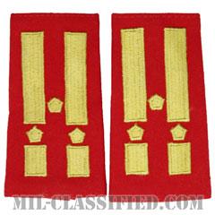 仮想敵部隊(対抗部隊)階級章(Opposing Force (OPFOR), Colonel)[カラー(歩兵科レッド)/ショルダー階級章/ペア(2枚1組)]の画像