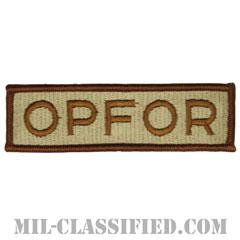 仮想敵部隊(対抗部隊)ネーム章(Opposing Force (OPFOR), Name)[デザート/メロウエッジ/パッチ]の画像