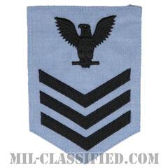 一等兵曹(二等兵曹・三等兵曹共通)(Petty Officer First Class)[シャンブレーシャツ/海軍階級章(男性用)/パッチ]の画像