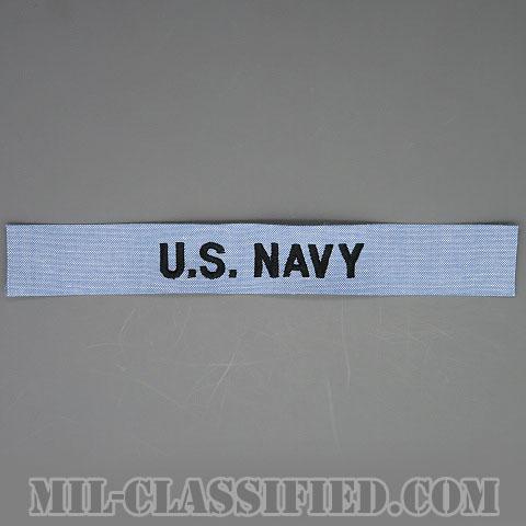 U.S.NAVY [シャンブレーシャツ用/海軍ネームテープ/生地テープパッチ]の画像
