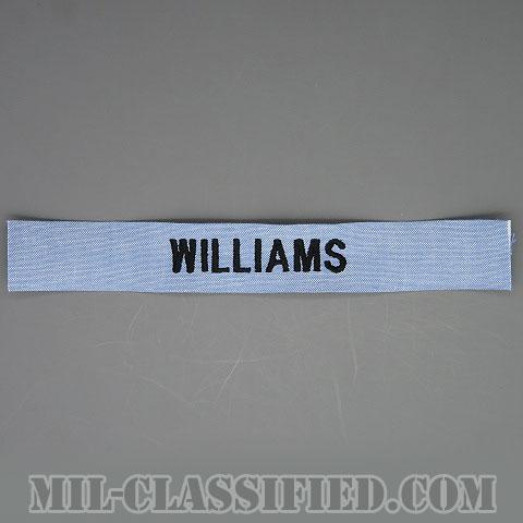 WILLIAMS [シャンブレーシャツ用/海軍ネームテープ/生地テープパッチ]の画像