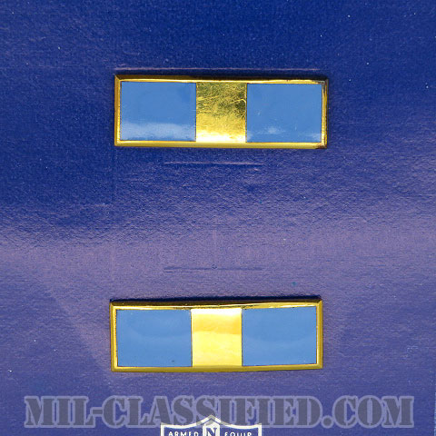 准尉 (WO1)(Warrant Officer 1)[カラー/空軍階級章(1960s-1970s)/バッジ/ペア(2個1組)/1点物]の画像