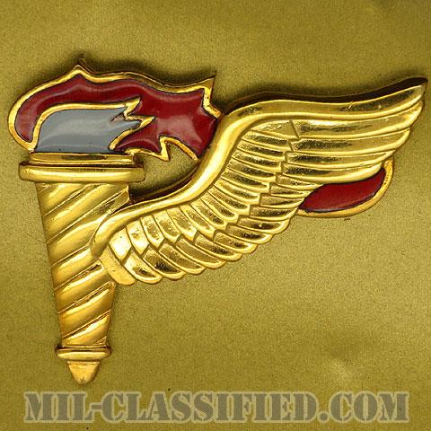 先導降下員章 (パスファインダー)(Pathfinder Badge)[カラー/鏡面仕上げ(18カラット金メッキ・18 Karat Gold Plated)/バッジ/1点物]の画像