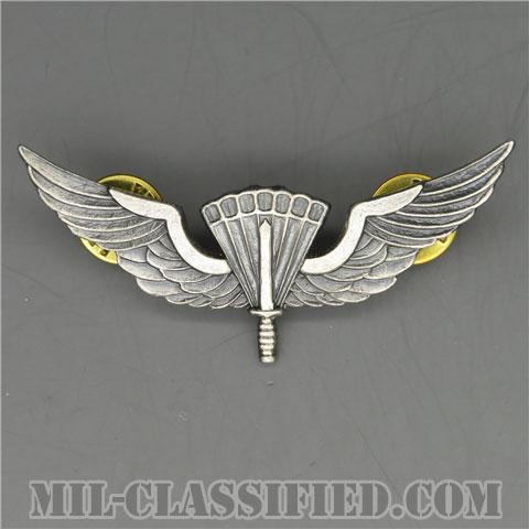 自由降下章(ベーシック)試作品(Military Freefall Parachutist Badge, HALO, Basic Prototype)[カラー/1980s/燻し銀/バッジ/1点物]の画像