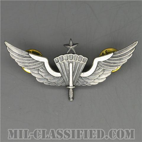 自由降下章(シニア)試作品(Military Freefall Parachutist Badge, HALO, Senior, Prototype)[カラー/1980s/燻し銀/バッジ/1点物]の画像