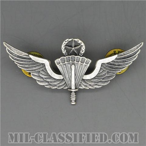 自由降下章(マスター)試作品(Military Freefall Parachutist, HALO, Jumpmaster, Prototype)[カラー/1980s/燻し銀/バッジ/1点物]の画像