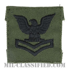二等兵曹(Petty Officer Second Class)[サブデュード/海軍階級章/キャップ用パッチ]の画像