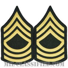 曹長(Master Sergeant (MSG))[カラー(グリーン)/階級章(女性用)/1996-/パッチ/ペア(2枚1組)]の画像
