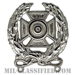 射撃技術章 (エキスパート)(Marksmanship Badge, Expert)[カラー/鏡面仕上げ/バッジ]の画像