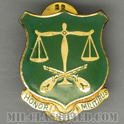 第102憲兵大隊(502nd Military Police Battalion)[カラー/クレスト(Crest・DUI・DI)バッジ/1960s/中古1点物]の画像