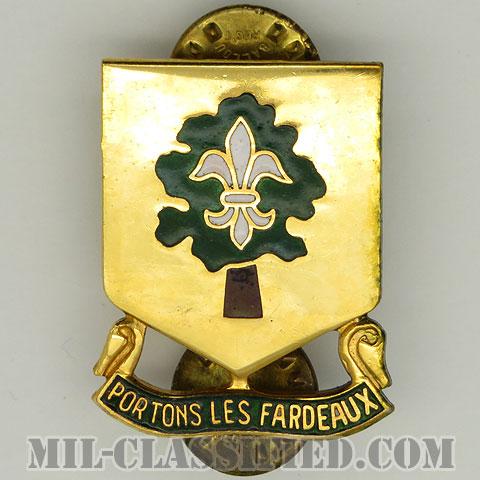 第101支援大隊(101st Support Battalion)[カラー/クレスト(Crest・DUI・DI)バッジ/1950s/中古1点物]の画像