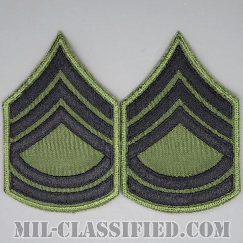 一等軍曹(Sergeant First Class (SFC))[サブデュード/カットエッジ/階級章/パッチ/ペア(2枚1組)]の画像