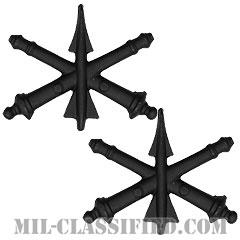 防空砲兵科章(Air Defense Artillery)[サブデュード(ブラックメタル)/兵科章/バッジ/ペア(2個1組)]の画像