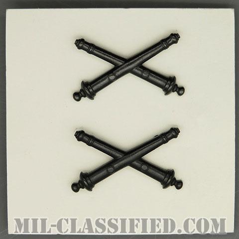 砲兵科章(Field Artillery)[サブデュード/兵科章/1969年ロット/バッジ/ペア(2個1組)]の画像