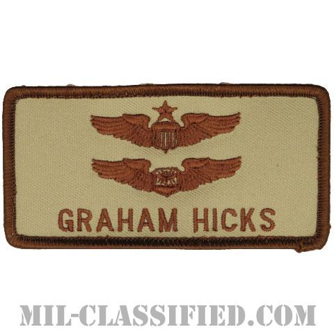 GRAHAM HICKS (シニア航空機操縦士章/ベーシック航空士章)(Senior Pilot, Navigator/Basic Observer)[デザート/メロウエッジ/ベルクロ付パッチ]の画像