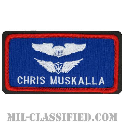 CHRIS MUSKALLA (航空機操縦士章/航空機搭乗員章)(Air Force Pilot, Army Basic Aviation)[カラー/メロウエッジ/ベルクロ付レザーバックパッチ]の画像