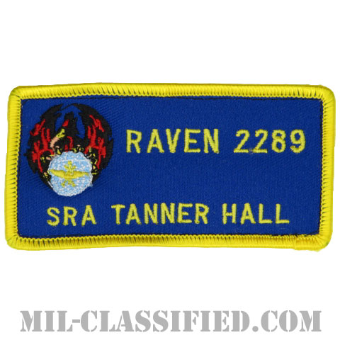 TANNER HALL上等空兵 (航空機動軍団フェニックスレイヴン治安部隊)(SRA TANNER HALL RAVEN 2289)[カラー/メロウエッジ/ベルクロ付パッチ]の画像