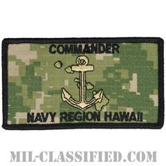 在ハワイ海軍司令部(米海軍ハワイ管区司令部)(Commander, Navy Region Hawaii)[NWU Type3(AOR2)/メロウエッジ/ベルクロ付パッチ]の画像