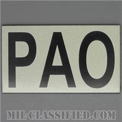 PAO(広報担当官)(Public Affairs Officer)[IR(赤外線)反射素材/3.5インチ幅/ベルクロ付パッチ]の画像