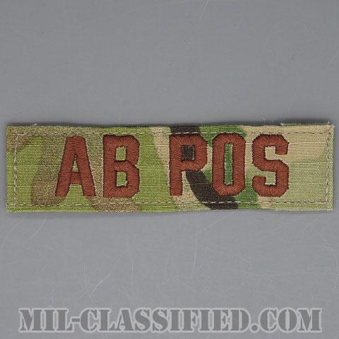 AB POS [OCP/ブラウン刺繍/血液型テープ/ベルクロ付パッチ]の画像