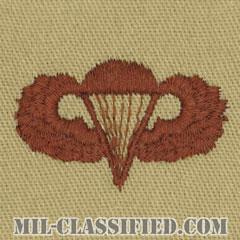 空挺章 (ベーシック)(Parachutist Badge, Basic)[デザート/パッチ]の画像
