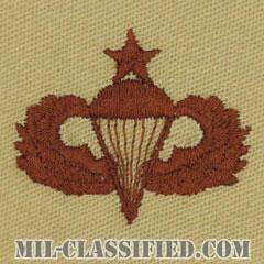 空挺章 (シニア)(Parachutist Badge, Senior, Senior)[デザート/パッチ]の画像