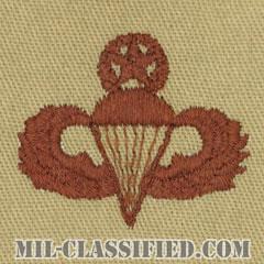 空挺章 (マスター)(Parachutist Badge, Master, Master)[デザート/パッチ]の画像