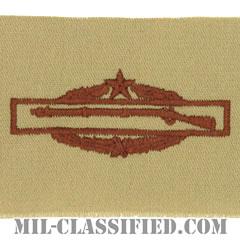 戦闘歩兵章 (セカンド)(Combat Infantryman Badge (CIB), Second Award)[デザート/パッチ]の画像