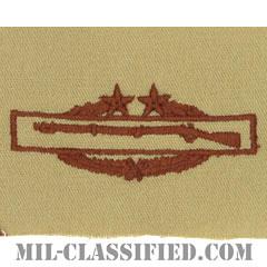 戦闘歩兵章 (サード)(Combat Infantryman Badge (CIB), Third Award)[デザート/パッチ]の画像