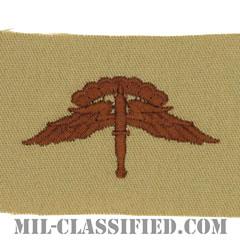 自由降下章 (ベーシック) (Military Freefall Parachutist Badge, HALO, Basic)[デザート/パッチ]の画像