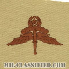 自由降下章 (マスター) (Military Freefall Parachutist Badge, HALO, Jumpmaster)[デザート/パッチ]の画像