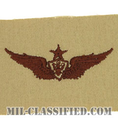 航空機搭乗員章 (シニア・エアクルー)(Army Aviation Badge (Aircrew), Senior)[デザート/パッチ]の画像