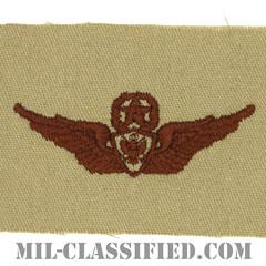 航空機搭乗員章 (マスター・エアクルー)(Army Aviation Badge (Aircrew), Master)[デザート/パッチ]の画像