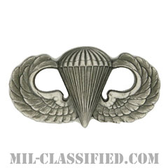 空挺章 (ベーシック)(Parachutist Badge, Basic)[カラー/燻し銀/バッジ]の画像