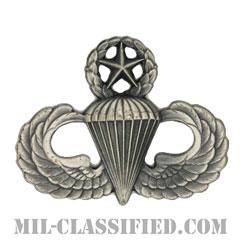 空挺章 (マスター)(Parachutist Badge, Master, Master)[カラー/燻し銀/バッジ]の画像