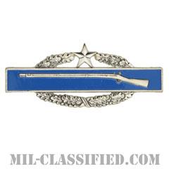 戦闘歩兵章 (セカンド)(Combat Infantryman Badge (CIB), Second Award)[カラー/燻し銀/バッジ]の画像