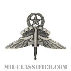 自由降下章 (マスター) (Military Freefall Parachutist Badge, HALO, Jumpmaster)[カラー/燻し銀/バッジ]の画像