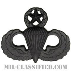 空挺章 (マスター)(Parachutist Badge, Master, Master)[サブデュード(ブラックメタル)/バッジ]の画像
