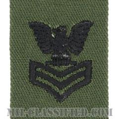 一等兵曹(Petty Officer First Class)[サブデュード/海軍階級章/生地テープパッチ/ペア(2枚1組)]の画像