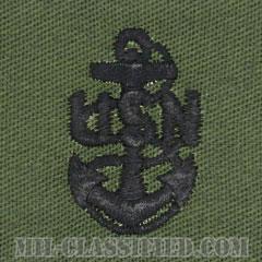 上等兵曹(Chief Petty Officer)[サブデュード/海軍階級章/生地テープパッチ/ペア(2枚1組)]の画像