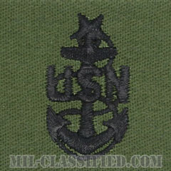 上級上等兵曹(Senior Chief Petty Officer)[サブデュード/海軍階級章/生地テープパッチ/ペア(2枚1組)]の画像