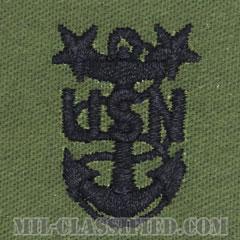 最先任上等兵曹(Master Chief Petty Officer)[サブデュード/海軍階級章/生地テープパッチ/ペア(2枚1組)]の画像
