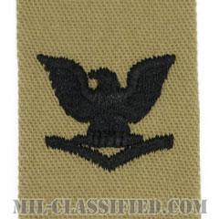 三等兵曹(Petty Officer Third Class)[デザート/海軍階級章/生地テープパッチ/ペア(2枚1組)]の画像