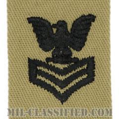 一等兵曹(Petty Officer First Class)[デザート/海軍階級章/生地テープパッチ/ペア(2枚1組)]の画像