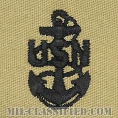 上等兵曹(Chief Petty Officer)[デザート/海軍階級章/生地テープパッチ/ペア(2枚1組)]の画像