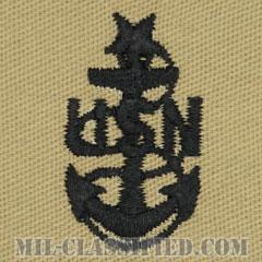 上級上等兵曹(Senior Chief Petty Officer)[デザート/海軍階級章/生地テープパッチ/ペア(2枚1組)]の画像